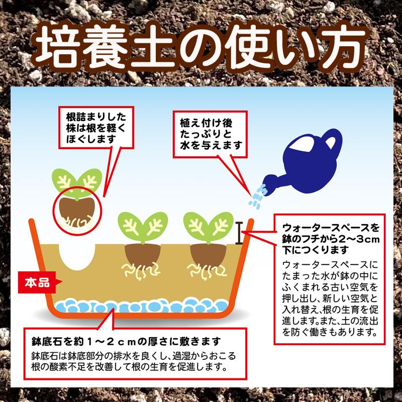 培養土の使い方